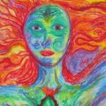 """""""fire woman detail"""" by yarrow"""