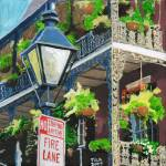 """bourbon st balcony in flower"" by tica"