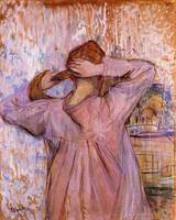 Woman Combing Her Hair 1