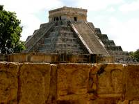 Chichen Itza Toltec Wall of Skulls & Mayan Temple