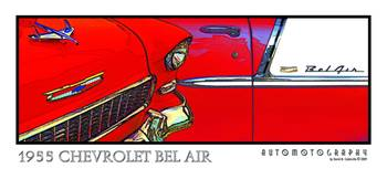 1955 Chevrolet Bel Air - Red