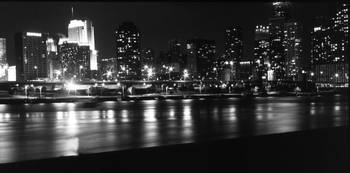 Chicago Skyline B&W