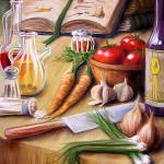 """Melting Pot Cook book Cover"" by joedigspi"
