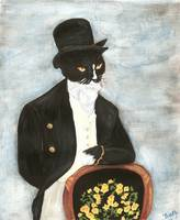 Cat Art Mr Darcy Regency Gentleman