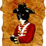 """Cat Art British Red Coat Soldier"" by taraflyphotos"
