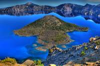 0017 Wizard Island in Crater Lake