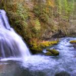 """0032 Steep Creek Falls Feeding Rock Creek"" by vincentlouis"