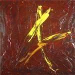 """""""Yellow V with Slash"""" by zuckerloft"""
