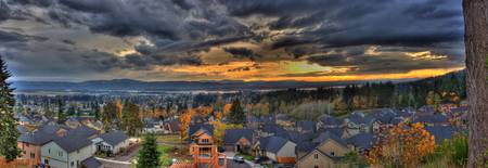 0033 View Of Washougal From Mt Norway