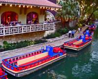 Boats on the Riverwalk - San Antonio TX