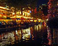 Nightlife on the Riverwalk - San Antonio, TX