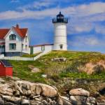 """Nubble Light--York, Maine"" by DigiPix"