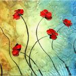 """Red Poppies"" by modernhouseart"