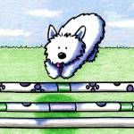"""Westie The Dog Agility"" by KiniArt"