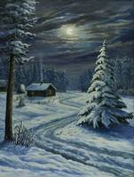 Siberian Winter Night