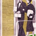 """Shopping Couple, 1950s The Stanley Works ad detail"" by arcaniumantiques"