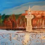 """Lac de Geneve"" by originalartbyroxie"