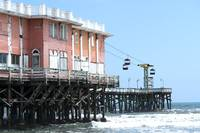 Watercolor Pier at the Beach