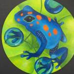 """Blue and Orange Dart Frog"" by mmm"
