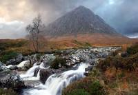 Buachaille Etive Mor and the Coupall Falls