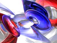 Red, White and Blue Abstract