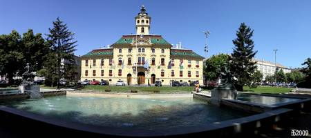 Szeged City Hall panorama