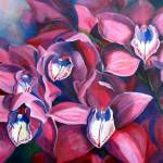 """Orchid Crowd"" by ArtbyMarionHedger"