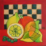"""Checkers Lemons  Olives"" by lili"