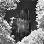 """Infra red, trump tower aol building from central p"" by eran"