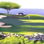 """Ocean View Golf"" by AudieDunham"