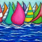 """Rainbow Regatta"" by LisaLorenz"