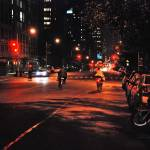 """Bicycles in the night (NYC)"" by skelter"