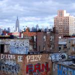 """View from Williamsburg Bridge - NY, Brooklyn"" by skelter"