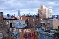 View from Williamsburg Bridge - NY, Brooklyn