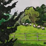 """Sheep in Paddock"" by harryboardman"