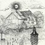 """Barn Ink Sketch"" by rozine"
