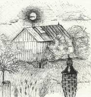 Barn Ink Sketch