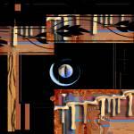 """k295-09n31c1f puma stone black square"" by inwonderdesigns"