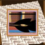 """k295-09n31c1o resting black ori brwn square"" by inwonderdesigns"