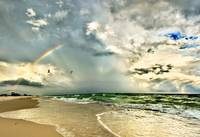 Rainbow Beach Emerald Green Waves Fine Art Prints