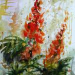 """Lupines Flower Original Painting"" by GinetteCallaway"