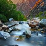 """Big Cottonwood Canyon Setting Sun"" by flowphotography"
