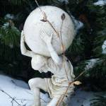 """Atlas Statue in Snowy Garden"" by kalabart"