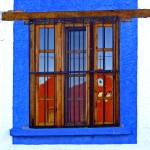 """MX_RedChurchinBlueWindow_1116_sq"" by AustinDetails"