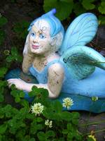 Blue,Winged Garden Fairy