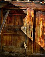 the door of the barn