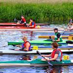 """Canoe Race, The Start  (17679-RDA)"" by rodjohnson"