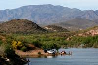 Camping at Lake Pleasant Arizona