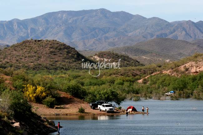 Camping at lake pleasant arizona by elizabeth rose for Fishing lakes in arizona