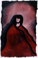 Woman in Cashmere Cape